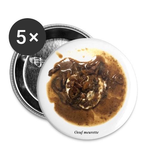 Oeuf Meurette - Lot de 5 petits badges (25 mm)