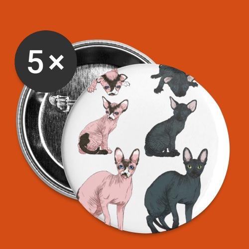 naaktkat geboorte tot volwassen - Buttons klein 25 mm