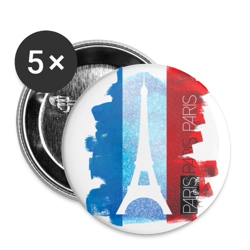 PARIS FRANCE - Buttons small 1''/25 mm (5-pack)