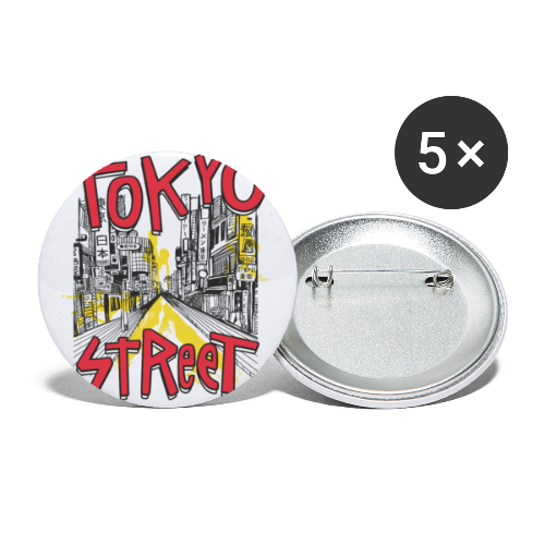 Travel To Tokyo 80s Retro Vintage - Buttons small 1''/25 mm (5-pack)
