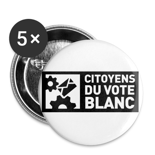 Logo CVB T shirt recto HD jpg - Lot de 5 petits badges (25 mm)
