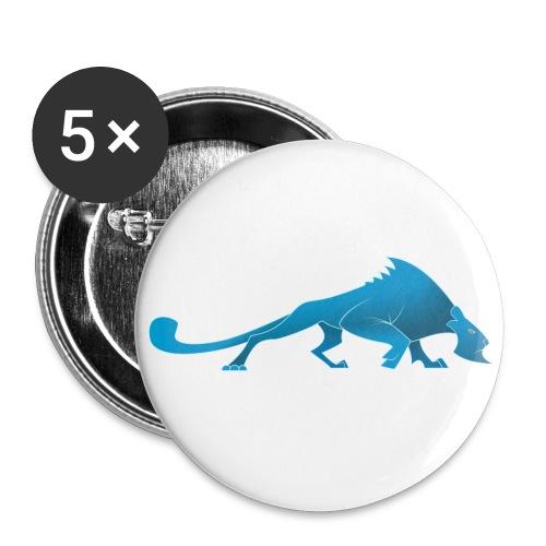 Pantheres Seule Couleur - Lot de 5 petits badges (25 mm)