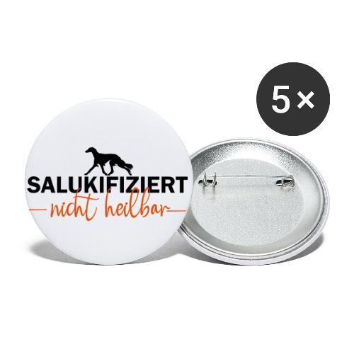 Saluki - nicht heilbar - Buttons klein 25 mm (5er Pack)