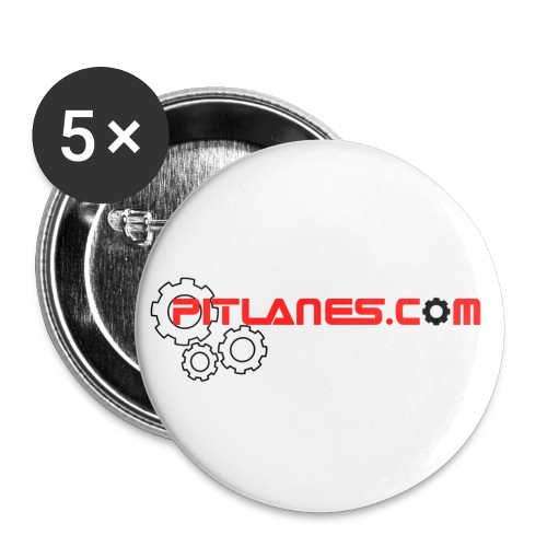 PITLANES LOGO COGS 2017 - Buttons small 1''/25 mm (5-pack)