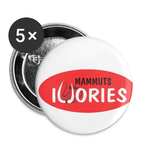 P Ivories Logo - Buttons klein 25 mm (5er Pack)