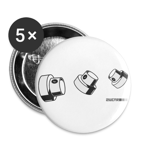 Fat Caps Flow - Buttons/Badges lille, 25 mm (5-pack)