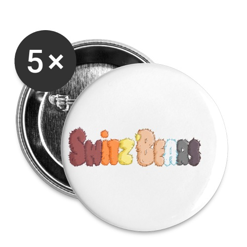 Switz'Bears logo lettre poilue - Lot de 5 petits badges (25 mm)