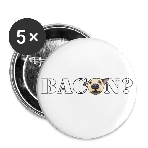 baconsmall - Buttons small 1''/25 mm (5-pack)