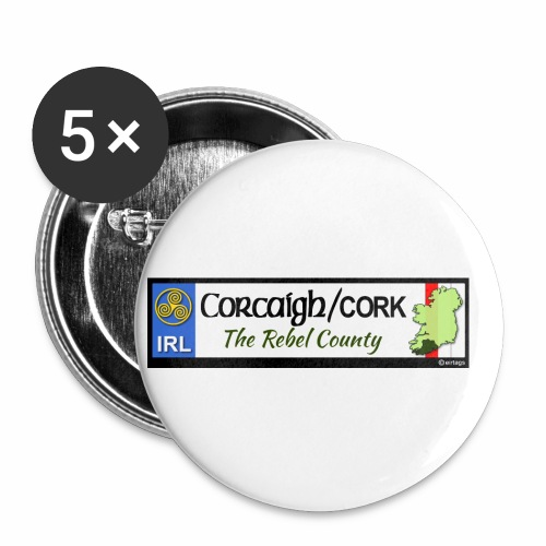 CO. CORK, IRELAND: licence plate tag style decal - Buttons small 1''/25 mm (5-pack)