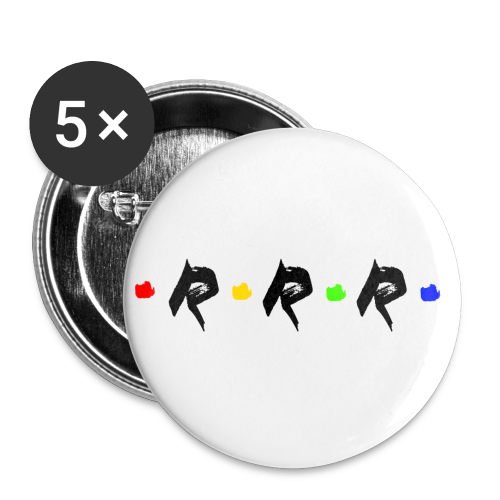 RRR - rainbow. - Buttons klein 25 mm (5er Pack)