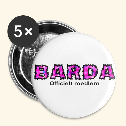 Barda medlem - Buttons/Badges lille, 25 mm (5-pack)