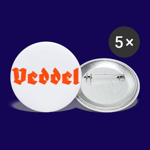 Veddel Fraktur-Typo: Die Hamburger Elbinsel! - Buttons klein 25 mm (5er Pack)