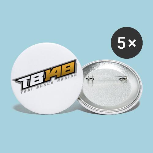 Tobi Logo Grau - Buttons klein 25 mm (5er Pack)