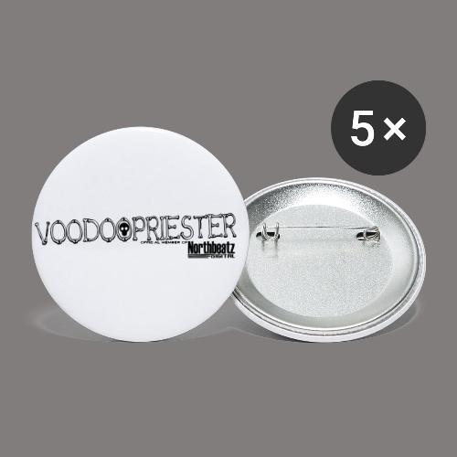 VOODOOPRIESTER - Buttons klein 25 mm (5er Pack)
