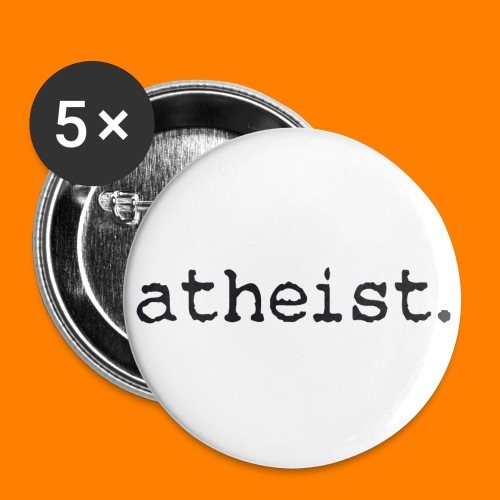 atheist BLACK - Buttons small 1''/25 mm (5-pack)