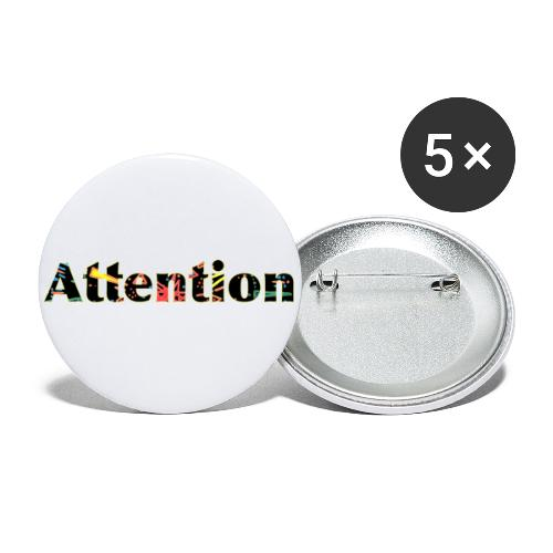 Attention - Buttons small 1''/25 mm (5-pack)