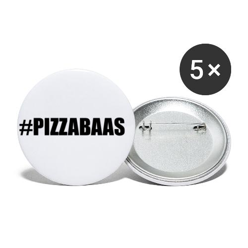 #PIZZABAAS - Buttons klein 25 mm (5-pack)