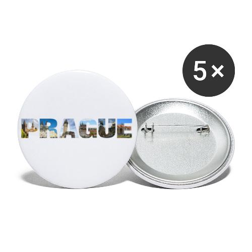 Prague CZ Capital Sights - Buttons klein 25 mm (5er Pack)