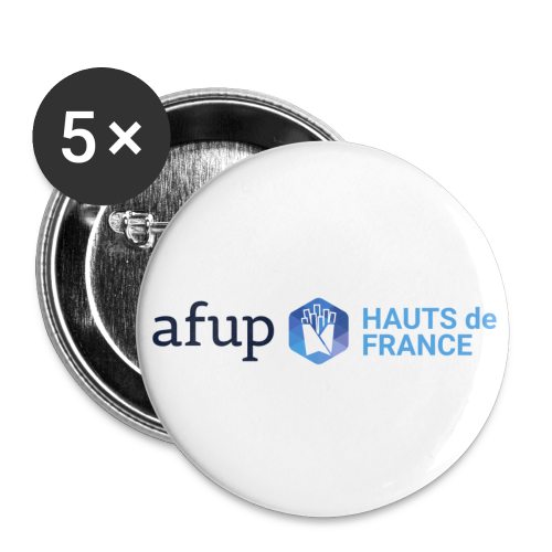 AFUP Hauts-de-France - Lot de 5 petits badges (25 mm)