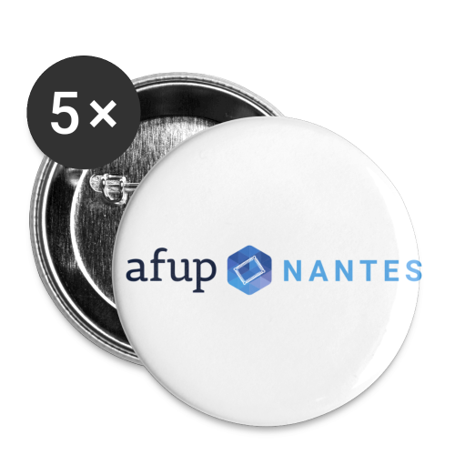AFUP Nantes - Lot de 5 petits badges (25 mm)