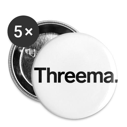 Logo nur Schriftzug - Buttons klein 25 mm (5er Pack)