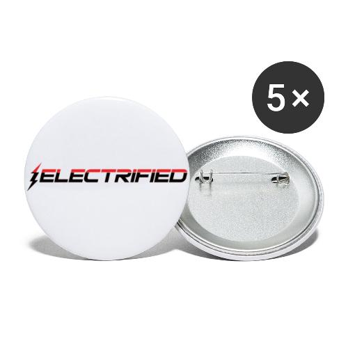 Electrified Logo schwarz/rot - Buttons klein 25 mm (5er Pack)
