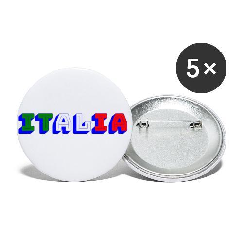 Italia - Confezione da 5 spille piccole (25 mm)
