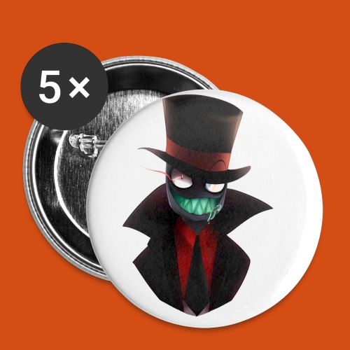 the blackhat - Buttons klein 25 mm (5-pack)
