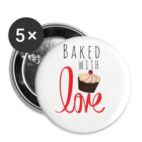 Baked with love - Buttons small 1''/25 mm (5-pack)
