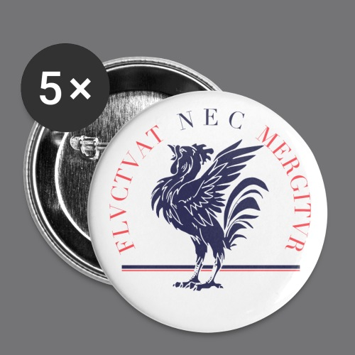 EMBLEME FRANCE Tee Shirts - Buttons small 1''/25 mm (5-pack)