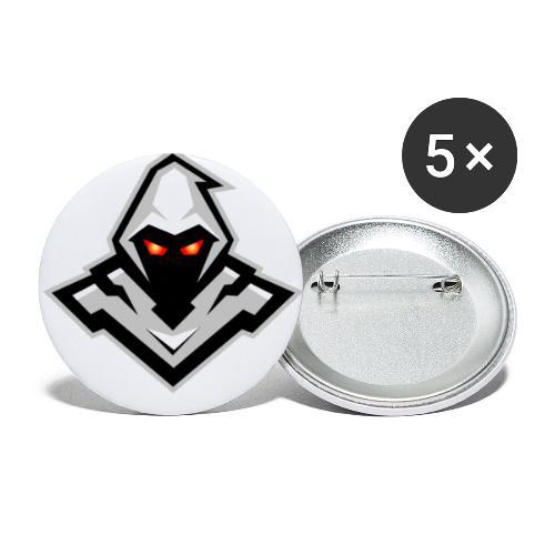 Fischer - Buttons/Badges lille, 25 mm (5-pack)