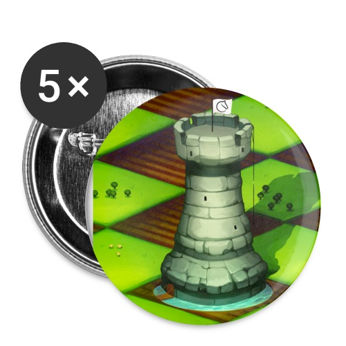 Lichess Castle - Buttons small 1''/25 mm (5-pack)