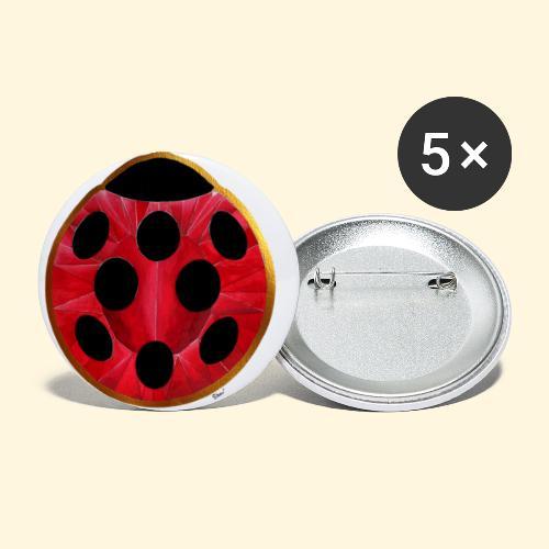 Joyaux coccinelle - Lot de 5 petits badges (25 mm)