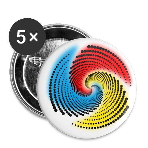 Farbspirale - Buttons klein 25 mm (5er Pack)