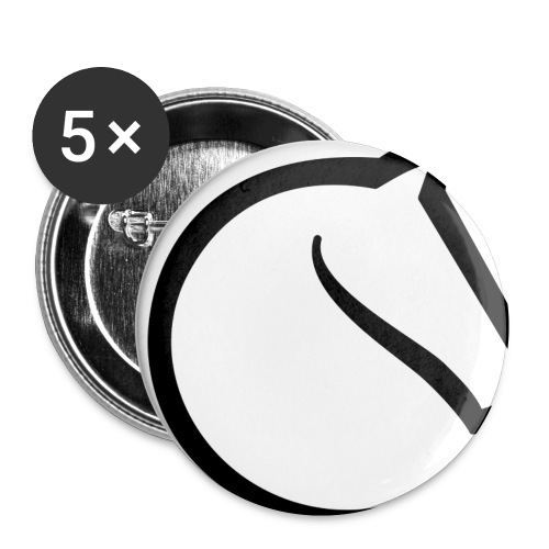 lichess logo - Buttons small 1''/25 mm (5-pack)