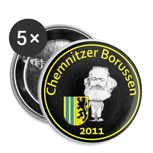 Logo Rot Schwarz NEU PNG - Buttons klein 25 mm (5er Pack)