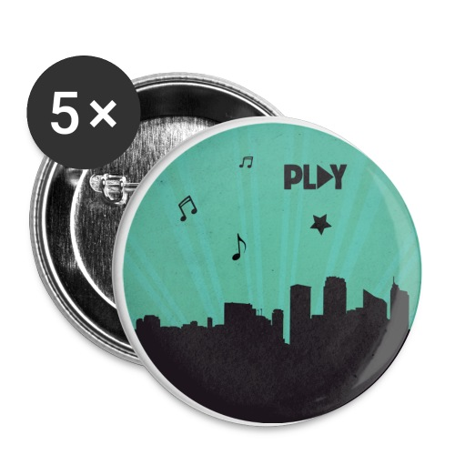 Ciudad Play - Paquete de 5 chapas pequeñas (25 mm)