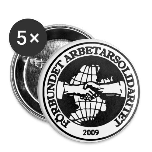 Logo P 11x11 - Små knappar 25 mm (5-pack)