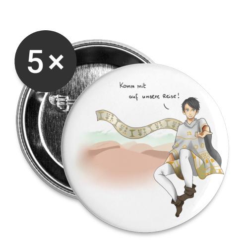 20141223 Design1 Komm mit auf unsere Reise schwar - Buttons klein 25 mm (5er Pack)