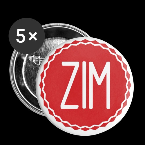 Logo grand png - Lot de 5 petits badges (25 mm)