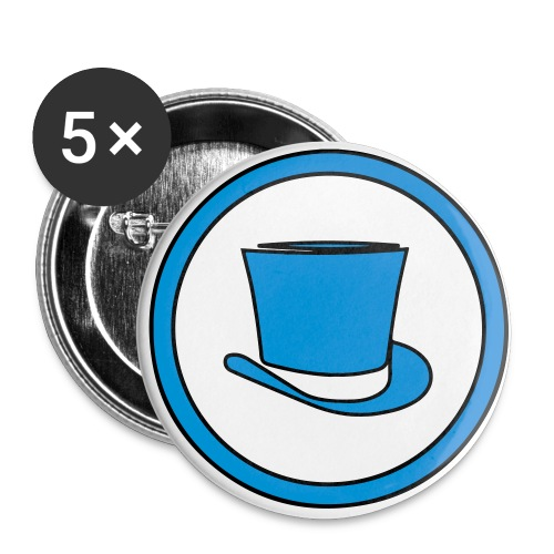 Gentlemen Gamers Badge (Blue) - Buttons small 1''/25 mm (5-pack)