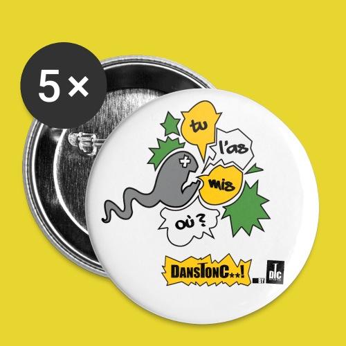 TU L AS MIS OU png - Lot de 5 petits badges (25 mm)