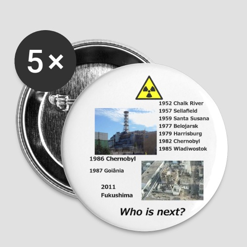 no nuclear button Who is next? - Buttons small 1''/25 mm (5-pack)