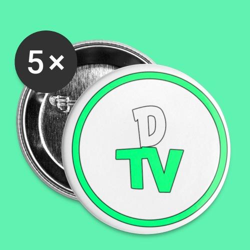 DTV Logo new - Buttons klein 25 mm (5er Pack)