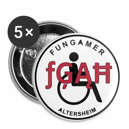 Logo FungamerAltersheim - Buttons klein 25 mm (5er Pack)