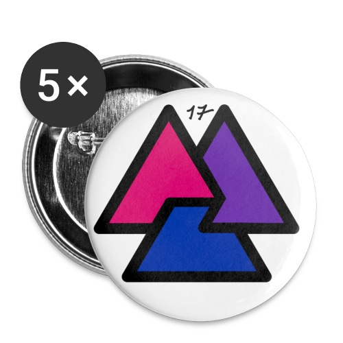 awesome logo png - Buttons small 1''/25 mm (5-pack)