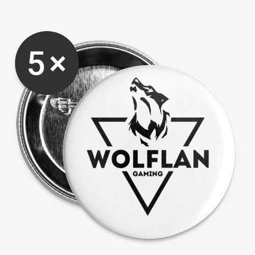 WolfLAN Gaming Logo Black - Buttons small 1''/25 mm (5-pack)
