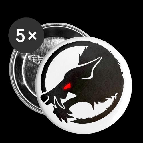 ThePack Logo v2B - Buttons klein 25 mm (5er Pack)