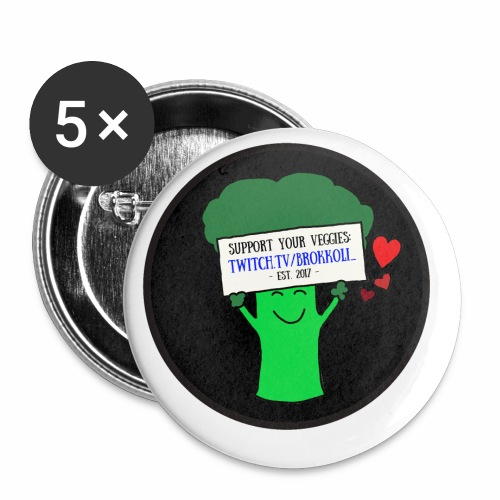 Support your Veggies - Buttons klein 25 mm