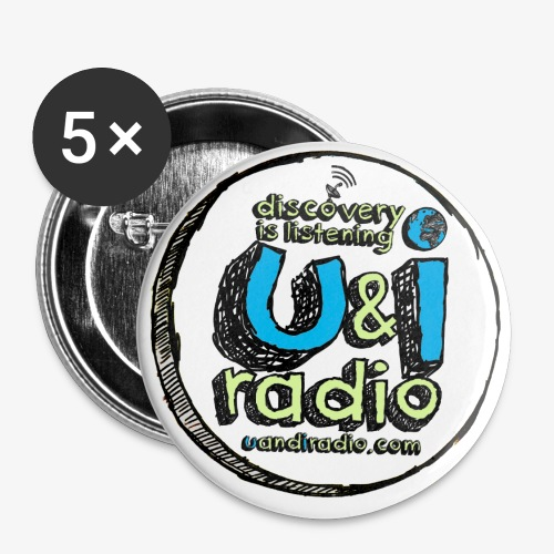 U & I Logo - Buttons small 1''/25 mm (5-pack)